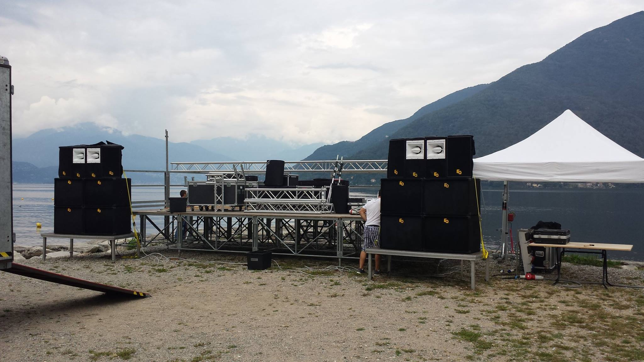 Noleggio sistema Audio professionale, Lago Maggiore